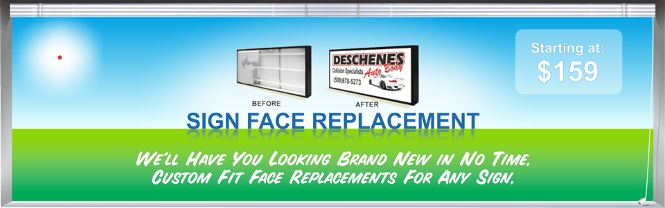 Sign Face Replacement | Custom Replacement Sign Faces